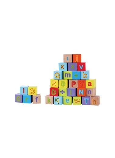 Kanz 30 Parça Ahşap Alfabe Bloklar 12 Ay+-Kanz